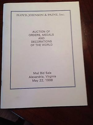 Orders, Medals and Decorations of the world 1998 auction catalog