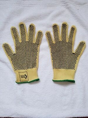 Gloves Yellow with Black rubber-like beads for grip