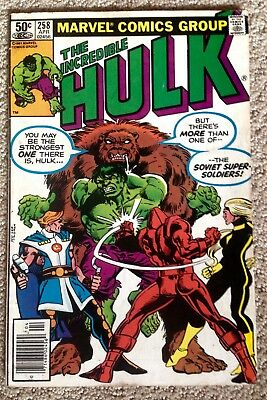 Incredible Hulk #258 (1981)! 1st App The Soviet Super-Soldiers!  PRICED TO SELL!