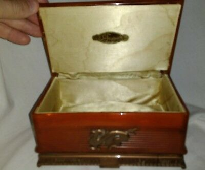 Vintage Large La Tausca Pearl Jewelry Celluloid Presentation Box Art Nouveau