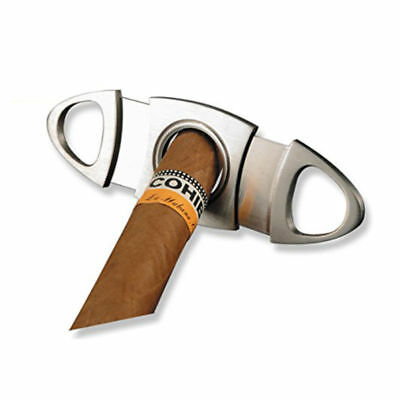 Double Blades Guillotine Cigar Cutter Pocket Knife Scissors Stainless Steel US