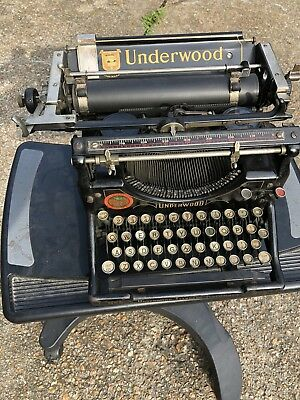 AWESOME WORKING Antique Vintage Underwood Number No 5 Typewriter STEAMPUNK