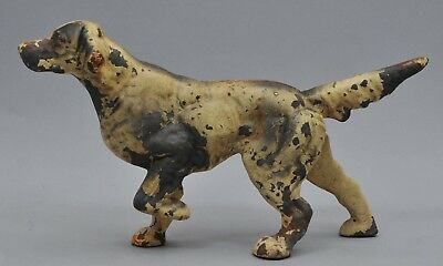 Antique Hubley English Setter Hunting Pointer Bird Dog Cast Iron Doorstop