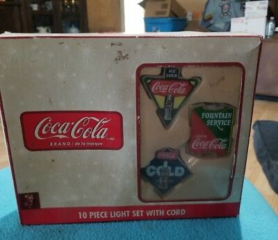 Coca Cola-Indoor Outdoor 10 Piece Christmas,Patio,Camp Light