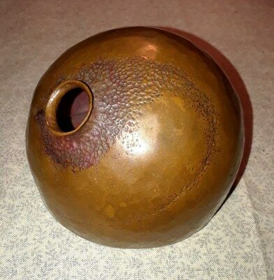 Arts & Crafts Hand-Hammered Copper Vase