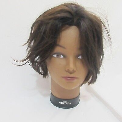 Short Brown Hair Mannequin Head Miss Chelsea