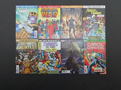 Thanos True Believers Lot of 8 NM High Grade Marvel Comics