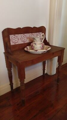 Antique Washstand with Bowl & Jug