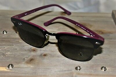 4c43cee69dbf8 RAY-BAN RB3016 CLUBMASTER Women Sunglasses Black and Purple Frame ...