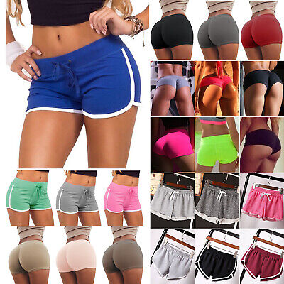 Women Sports Mini Shorts Casual Athletic Beach Summer Running Gym Yoga Hot Pants