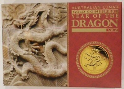 Rare 2012 Lunar Year of the Dragon Gold Proof set of 3 1oz 1/4oz 1/10oz coins