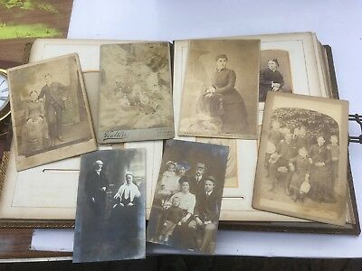 Vintage photo album and photographs / postcards