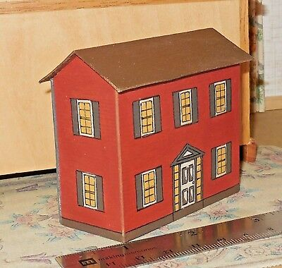 """Vintage Dollhouse for a Dollhouse - """"Furnished"""" - 1:144 - Nice!"""