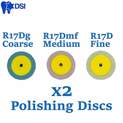 x2 Dental Diamond Polishing Discs Disks Ceramic Choose Grit Polish Diapol