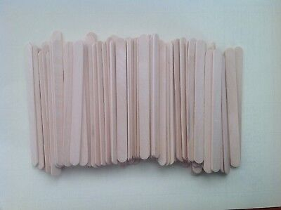 100 Wooden Paddle Pop Sticks,Craft Stick,Coffee Stirrers,11.5cm x 1cm
