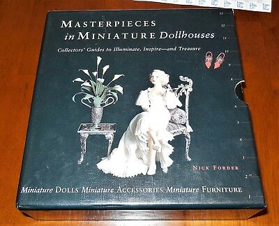 """Masterpieces in Miniature Dollhouses"" - Set of THREE Books - Gorgeous Pictures!"