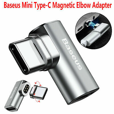 Baseus Mini USB-C Type-C Fast Charging Magnetic Elbow Adapter Converter MacBook
