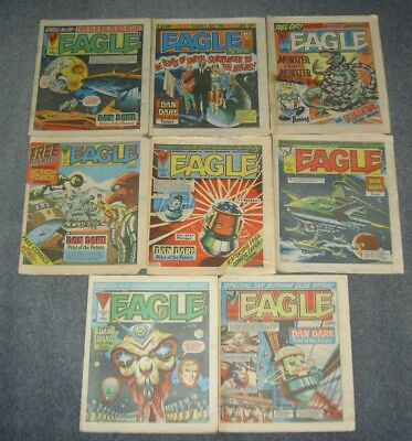 Lot Of Vintage Eagle Comics.bulk Rare Set,scream,dan Dare,23006