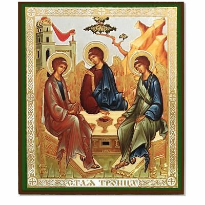 Old Testament Trinity Russian Orthodox Icon 4 1/2 Inch