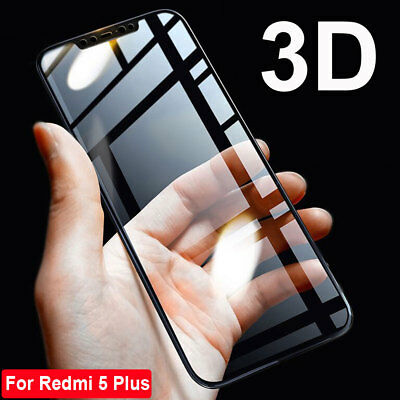 3D 9H Screen Protector For Redmi Note 5 Pro/5Plus Full Cover Tempered Glass Film