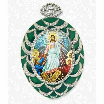 Resurrection of Christ Pine Cone Orthodox Icon Wall Pendant Decoration