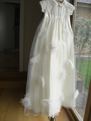 Mamas & Papas 'Famiglia' Cream Christening Gown ~ Size 0-3 Months ~ NWOT