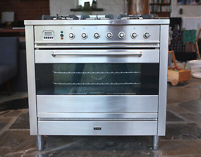 ILVE gas cooktop and electric oven unit -- 90cm freestanding stainless steel