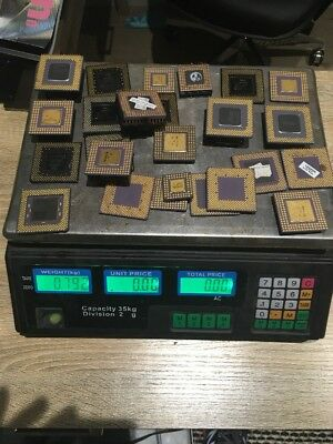 Scrap ceramic CPU For Gold Recovery - Approx 790 Gram. Vintage