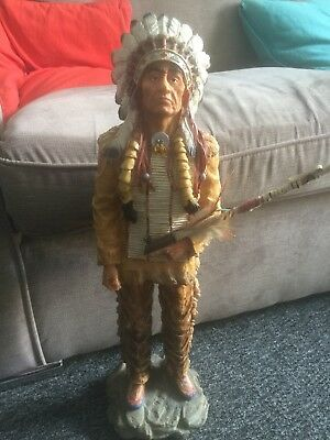 """Indian Chief, Resin Statue Figure, Size 21"""""""