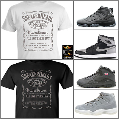 4e69ffccdc7a8e EXCLUSIVE TEE T SHIRT to match NIKE AIR JORDAN SHADOW or ANY GREY COLORWAY!