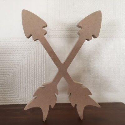 Wooden MDF Scandi Arrow - Criss Crossed Design. TeePee and Mountain Designs too