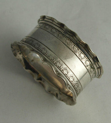 Elegant Antique Silver Plated Napkin Ring.