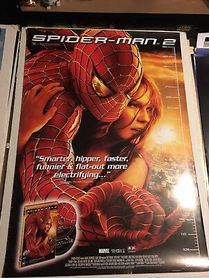Spiderman 2 Promo Video Store Poster. Fair Condition. Single Sided.1 Sheet Movie