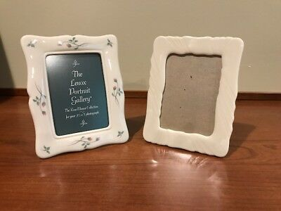Two Lenox Picture Frames: Rose Manor & Ivory – New