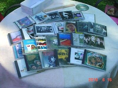 Lot of 25 EMPTY Music CD Jewel Cases with Artist Inserts Preowned Rock Good Ones