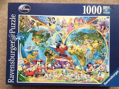 Ravensburger 1000 piece jigsaw disneys world map 250 ravensburger 1000 piece jigsaw disneys world map gumiabroncs Images