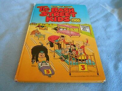 Vintage UK Annual - THE BASH STREET KIDS from THE BEANO Annual - 1986