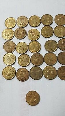 26 Old Coin Thailand Thai King Rame  Antiques Collection Coin small