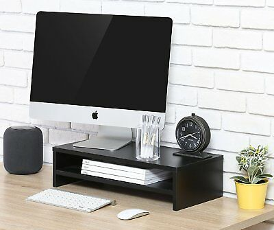 FITUEYES Wood 2 Tiers Monitor Riser Computer Laptop TV Screen Stand 42.5*23.5cm