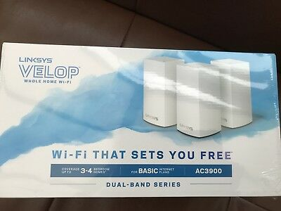 Linksys Velop Pack of 3 Whole Home Wi-fi Intelligent Mesh System NEW