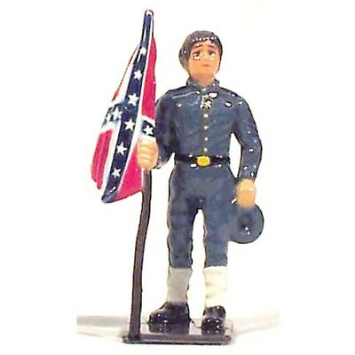 CIVIL WAR FLAG BEARER of the South - Historic Hand Painted Metal Toy Soldier NEW