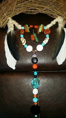 Native American Indian Harmony Bow Flax Bow With Healing Stones