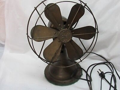 "Antique DIEHL Oscillating 14"" Electric Fan with 6 Blades"