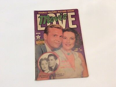 Movie Love- No.9 June1951 By Famous Funnies- Gene Tierney-John Lund-Glenn Ford-