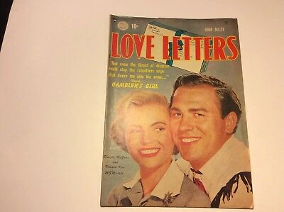Love Letters- No.22 June 1952 by Comic Mag. Cover Dorothy McGuire-Howard keel