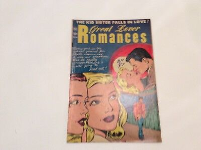 Great Lovers Romances No.6 Oct. 1952 By Toby Press