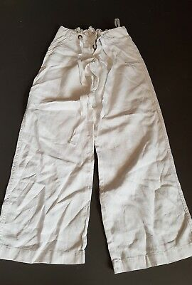 Mamas and Papas white maternity trousers size 6L