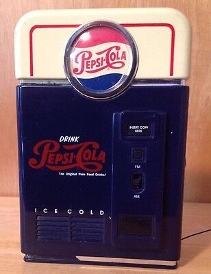 Vintage Pepsi Vending Machine Radio AM/FM