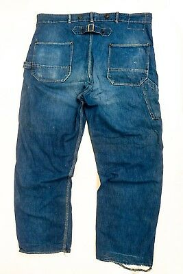 1930s Buckle Back Vintage Jeans by Strong Reliable with Suspender Buttons
