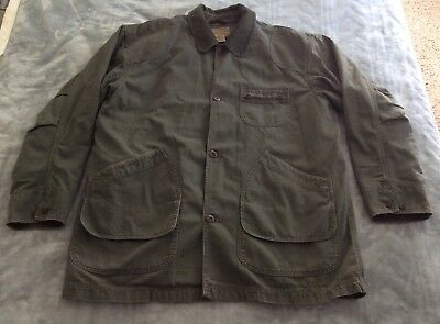 LL BEAN Lined Canvas Barn-Chore Jacket  XXL Tall Green Faded Distressed  Vintage